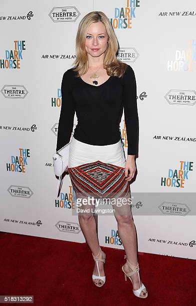 Actress Jessica Morris attends the premiere of Broad Green Pictures' The Dark Horse at The Theatre at Ace Hotel on March 30 2016 in Los Angeles...