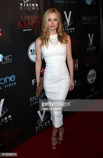 Actress Jessica Morris attends the premiere of Living Among Us at Ahrya Fine Arts Theater on February 1 2018 in Beverly Hills California