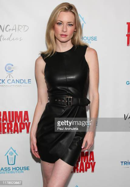 Actress Jessica Morris attends the premiere of Trauma Therapy at the Harmony Gold Theater on October 01 2019 in Los Angeles California