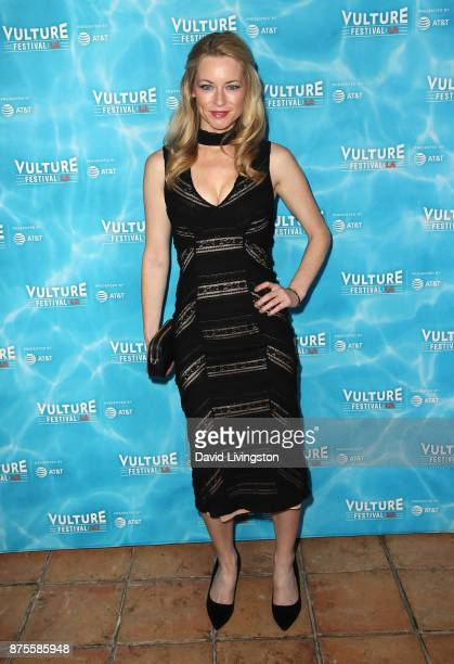 Actress Jessica Morris attends the Vulture Festival Los Angeles kickoff party at the Hollywood Roosevelt Hotel on November 17 2017 in Hollywood...