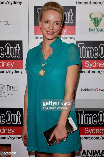 Actress Jessica Napier arrives at the premiere of Animal Kingdom on May 25 2010 in Sydney Australia