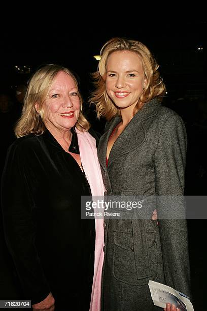 Actress Jessica Napier attends with her mother Beverley the Cirque Du Soleil's 'Varekai' premiere in Sydney at the Showring in the Entertainment...