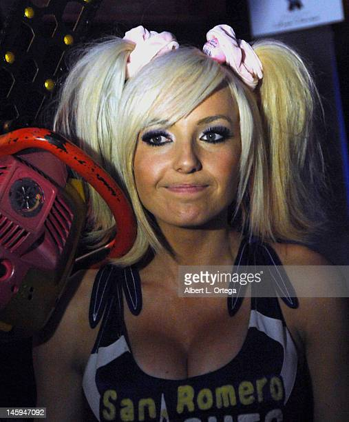 Actress Jessica Nigri as Lollipop Chainsaw at the 2012 E3 Expo Day 3 held at the Los Angeles Convention Center on June 7 2012 in Los Angeles...