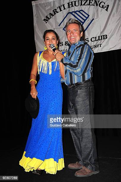 Actress Jessica Pacheco and singer Davy Jones attends 17th Annual Hollywood Welcomes The Stars event to benefit the the Marti Huizenga Boys Girls...