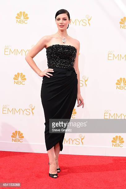 Actress Jessica Paré attends the 66th Annual Primetime Emmy Awards held at Nokia Theatre LA Live on August 25 2014 in Los Angeles California
