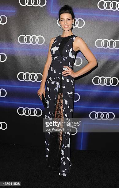 Actress Jessica Pare arrives at Audi Emmy Week Celebration at Cecconi's Restaurant on August 21 2014 in Los Angeles California