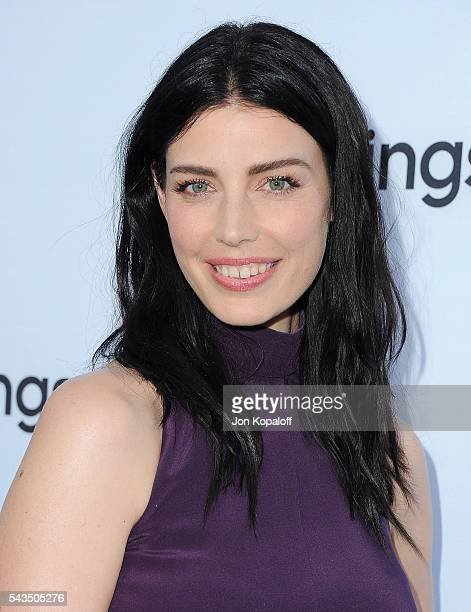 Actress Jessica Pare arrives at Sony Pictures Television Social Soiree Featuring Amazon Pilots The Last Tycoon And The Interestings at Sony Pictures...
