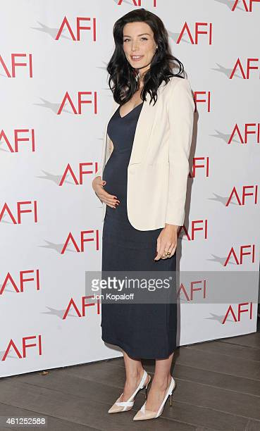 Actress Jessica Pare arrives at the 15th Annual AFI Awards at Four Seasons Hotel Los Angeles at Beverly Hills on January 9 2015 in Beverly Hills...