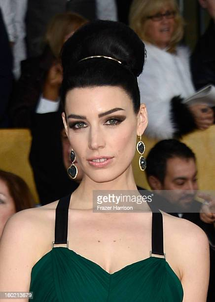Actress Jessica Pare arrives at the 19th Annual Screen Actors Guild Awards held at The Shrine Auditorium on January 27 2013 in Los Angeles California