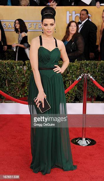 Actress Jessica Pare arrives at the 19th Annual Screen Actors Guild Awards at The Shrine Auditorium on January 27 2013 in Los Angeles California