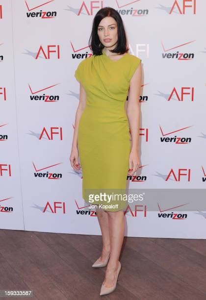 Actress Jessica Pare arrives at the 2012 AFI Awards Luncheon on January 11 2013 in Beverly Hills California