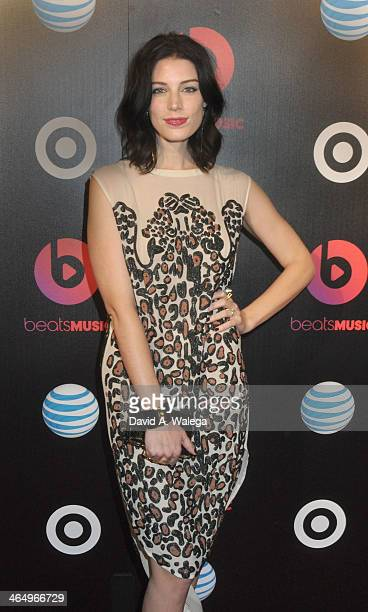Actress Jessica Pare arrives at the Beats Music Official Launch Party from Beats by Dr Dre at Belasco Theatre at Belasco Theatre on January 24 2014...