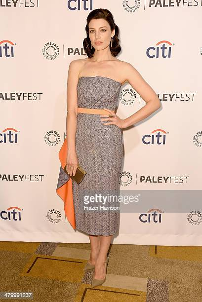 Actress Jessica Pare arrives at The Paley Center For Media's PaleyFest 2014 Honoring 'Mad Men' at Dolby Theatre on March 21 2014 in Hollywood...