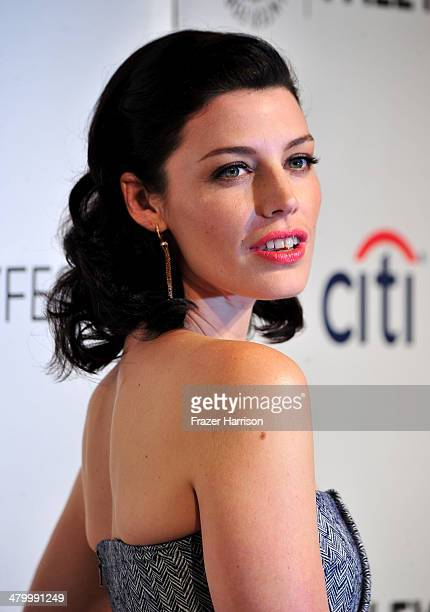 Actress Jessica Pare arrives at The Paley Center For Media's PaleyFest 2014 Honoring Mad Men at Dolby Theatre on March 21 2014 in Hollywood California