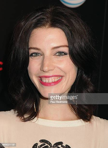 Actress Jessica Pare at Beats by Dre Music Launch GRAMMY Party at Belasco Theatre on January 24 2014 in Los Angeles California