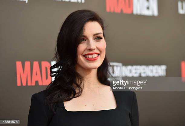 Actress Jessica Pare attends AMC Film Independent and Lionsgate Present 'Mad Men' Live Read at The Theatre at Ace Hotel Downtown LA on May 17 2015 in...