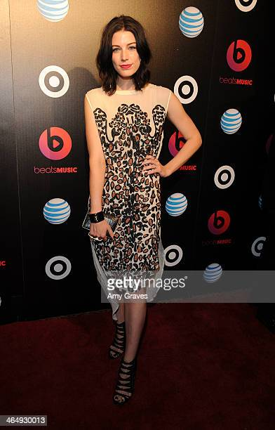 Actress Jessica Pare attends Beats Music Launch Party At Belasco Theatre at Belasco Theatre on January 24 2014 in Los Angeles California