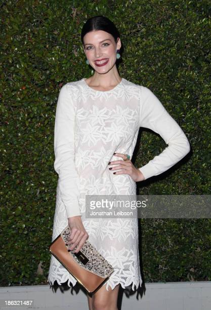 Actress Jessica Pare attends Chloe Los Angeles Fashion Show Dinner hosted by Clare Waight Keller January Jones and Lisa Love on October 29 2013 in...