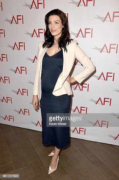 Actress Jessica Pare attends the 15th Annual AFI Awards at Four Seasons Hotel Los Angeles at Beverly Hills on January 9, 2015 in Beverly Hills,...