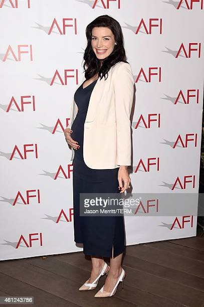 Actress Jessica Pare attends the 15th Annual AFI Awards at Four Seasons Hotel Los Angeles at Beverly Hills on January 9 2015 in Beverly Hills...