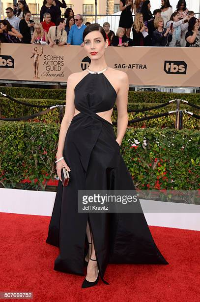 Actress Jessica Pare attends the 22nd Annual Screen Actors Guild Awards at The Shrine Auditorium on January 30 2016 in Los Angeles California