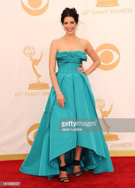 Actress Jessica Pare attends the 65th annual Primetime Emmy Awards at Nokia Theatre LA Live on September 22 2013 in Los Angeles California