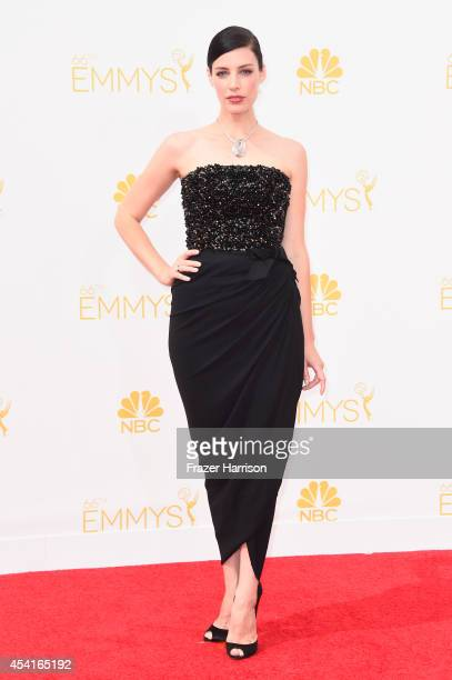 Actress Jessica Pare attends the 66th Annual Primetime Emmy Awards held at Nokia Theatre LA Live on August 25 2014 in Los Angeles California