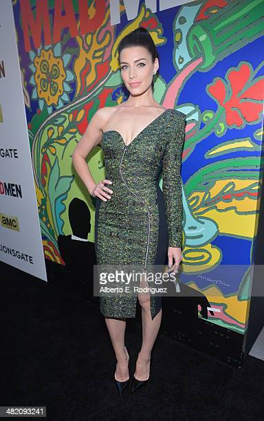Actress Jessica Pare attends the AMC celebration of the Mad Men season 7 premiere at ArcLight Cinemas on April 2 2014 in Hollywood California