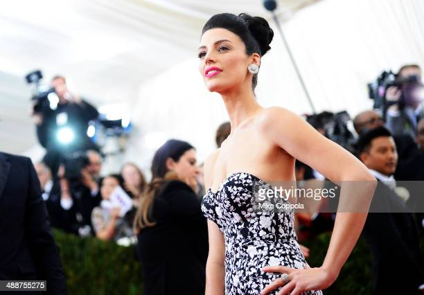 Actress Jessica Pare attends the Charles James Beyond Fashion Costume Institute Gala at the Metropolitan Museum of Art on May 5 2014 in New York City