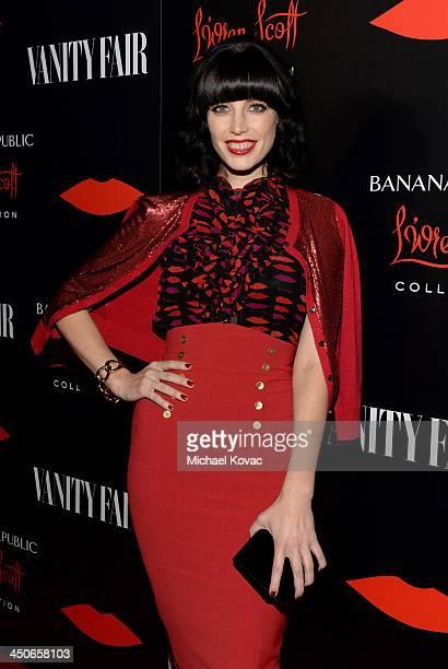 Actress Jessica Pare attends the launch celebration of the Banana Republic L'Wren Scott Collection hosted by Banana Republic L'Wren Scott and Krista...