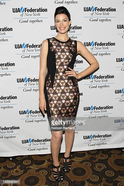 Actress Jessica Pare attends the UJA-Federation of New York's 2012 Broadcast, Cable & Video Award Celebration at B.B. King Blues Club & Grill on June...