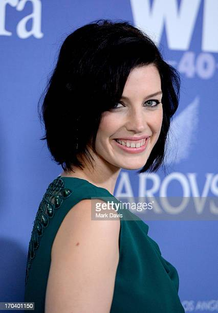 Actress Jessica Pare attends Women In Film's 2013 Crystal Lucy Awards at The Beverly Hilton Hotel on June 12 2013 in Beverly Hills California