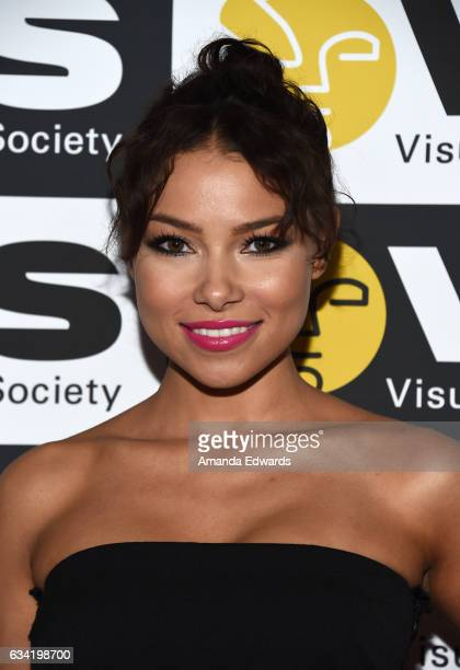 Actress Jessica Parker Kennedy arrives at the 15th Annual Visual Effects Society Awards at The Beverly Hilton Hotel on February 7 2017 in Beverly...