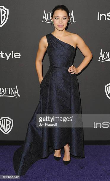 Actress Jessica Parker Kennedy arrives at the 16th Annual Warner Bros And InStyle PostGolden Globe Party at The Beverly Hilton Hotel on January 11...