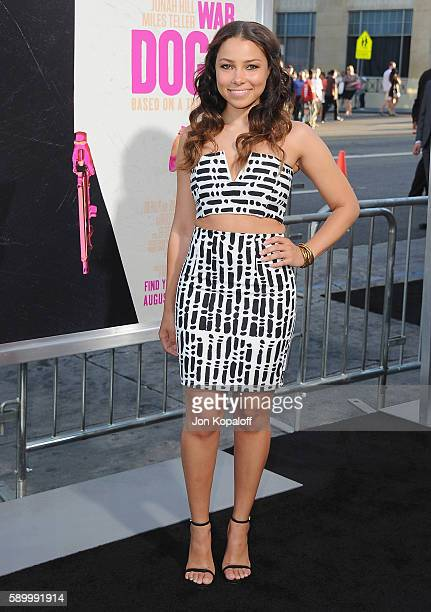 Actress Jessica Parker Kennedy arrives at the Los Angeles Premiere 'War Dogs' at TCL Chinese Theatre on August 15 2016 in Hollywood California