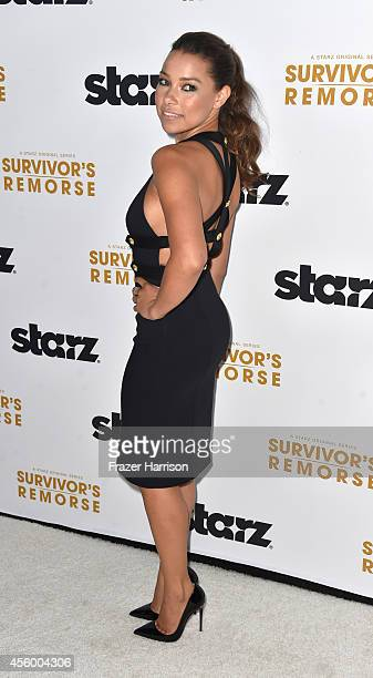 Actress Jessica Parker Kennedy arrives at the Premiere Of Starz 'Survivor's Remorse' at Wallis Annenberg Center for the Performing Arts on September...