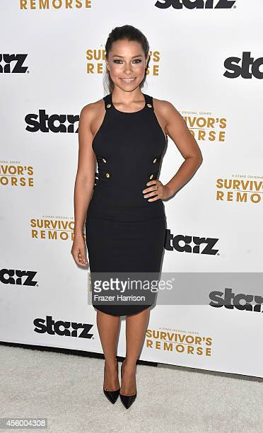 Actress Jessica Parker Kennedy arrives at the Premiere Of Starz Survivor's Remorse at Wallis Annenberg Center for the Performing Arts on September 23...