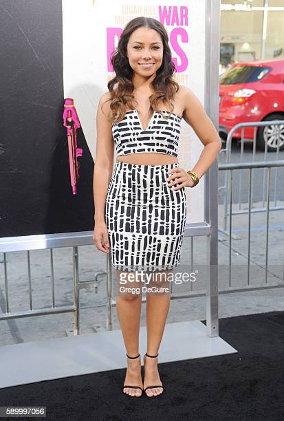 Actress Jessica Parker Kennedy arrives at the premiere of Warner Bros Pictures' 'War Dogs' at TCL Chinese Theatre on August 15 2016 in Hollywood...