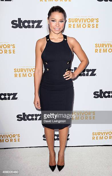 Actress Jessica Parker Kennedy attends the premiere of Starz 'Survivor's Remorse' at the Wallis Annenberg Center for the Performing Arts on September...