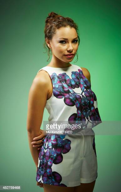 Actress Jessica Parker Kennedy poses for a portrait at the Getty Images Portrait Studio powered by Samsung Galaxy at ComicCon International 2014 at...