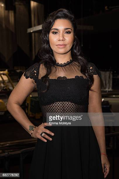 Actress Jessica Pimentel attends the SAGAFTRA Auction Display and The 23rd Annual Screen Actors Guild Awards behind the scenes event at The Shrine...