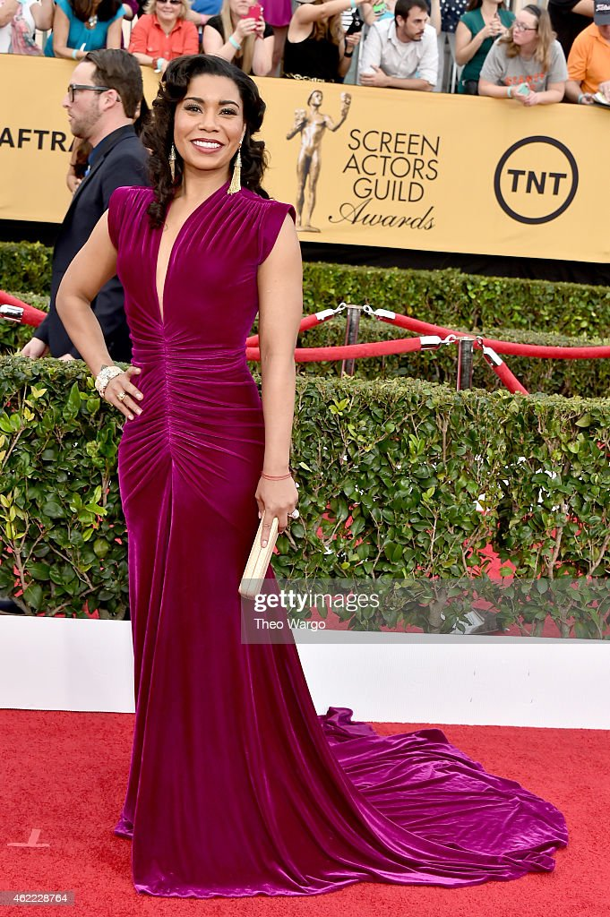 Actress Jessica Pimentel attends TNT's 21st Annual Screen Actors Guild Awards at The Shrine Auditorium on January 25, 2015 in Los Angeles, California. 25184_018