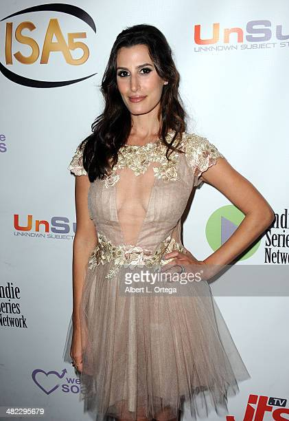 Actress Jessica Press attends 5th Annual Indie Series Awards held at El Portal Theatre on April 2 2014 in North Hollywood California