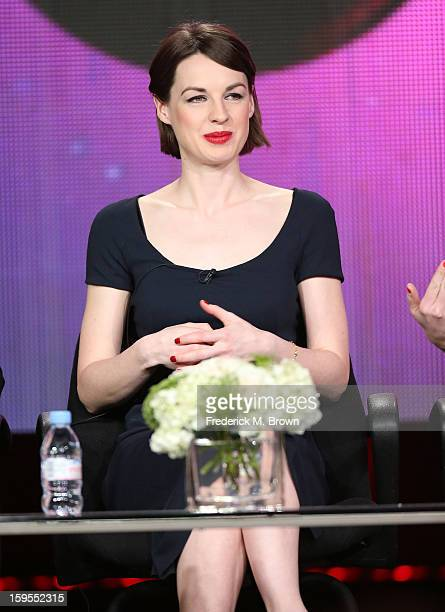 Actress Jessica Raine speaks onstage during the 'Call The Midwife' panel discussion during the PBS Portion Day 2 of the 2013 Winter Television...