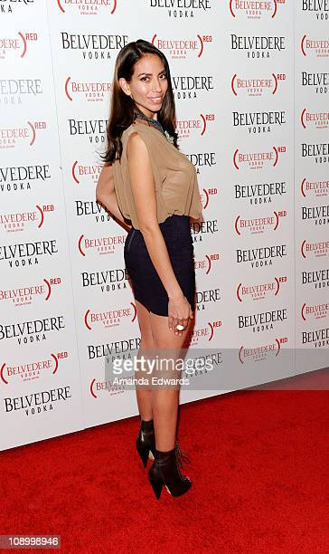 Actress Jessica Rizzo arrives at the Belvedere Vodka Launch Party For Special Edition Bottle at Avalon on February 10 2011 in Hollywood California