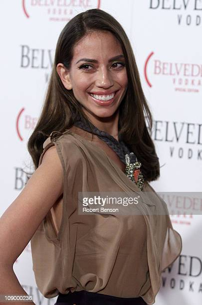 Actress Jessica Rizzo arrives at the RED launches with Usher on February 10 2011 in Hollywood California