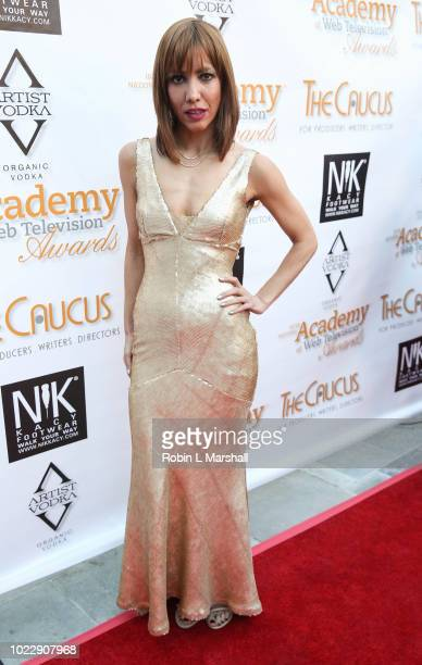 Actress Jessica Ross attends the 6th International Academy of Web Television Awards at Skirball Cultural Center on August 24 2018 in Los Angeles...