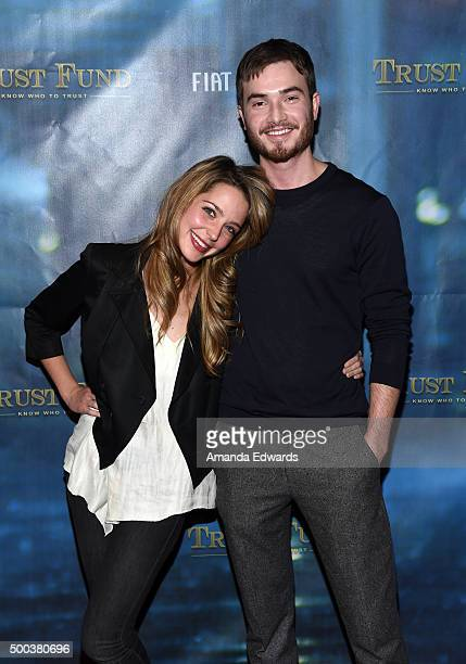 Actress Jessica Rothe and actor Matt Kane arrive at the premiere of Transatlantic Film Company's 'Trust Fund' at Raleigh Studios on December 7 2015...