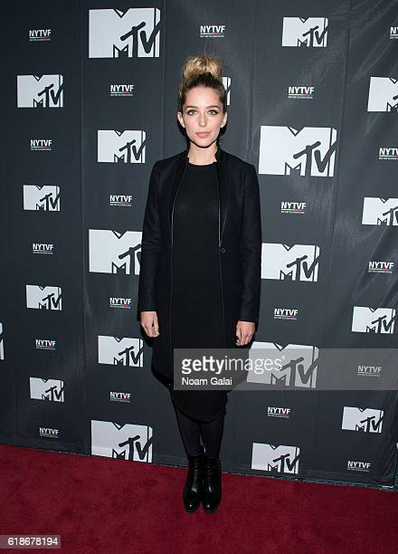 Actress Jessica Rothe attends 'The Struggle Is Real Gender Race Entrepreneurship And The Women Of MTV' during the 12th Annual New York Television...