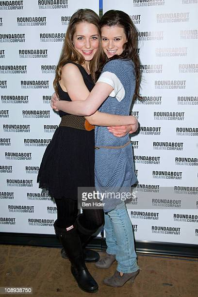 Actress Jessica Rothenberg and Alexandra Socha attend 'The Dream of the Burning Boys' Broadway cast photocall on February 9 2011 in New York City